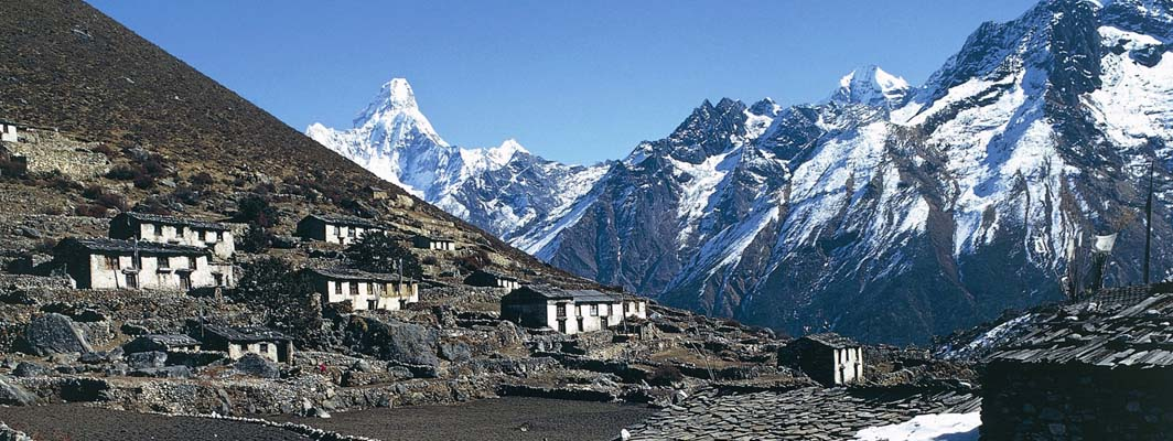NEPAL - MAY 25: Village, Khumbu, Everest, Nepal. (Photo by DeAgostini/Getty Images)